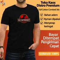 Baju Kaos Oblong Outdoor Distro Original Premium NOINTERNET RD B2009