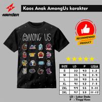 Baju Kaos Anak AmongUs karakter