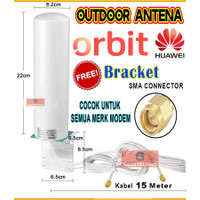 Antena Modem Router GSM Wifi 4G LTE Outdoor SMA Male 15 Meter - 5 meter