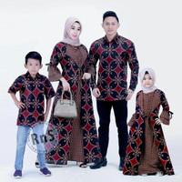 baju couple keluarga l set keluarga - Merah, All Size