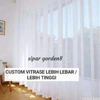 gorden hordeng vitrase daleman gorden tebal murah awet bahan asli ori - Putih, L 100cm T 150cm