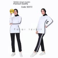 baju senam wanita muslim dewasa stelan olahraga panjang perempuan rema