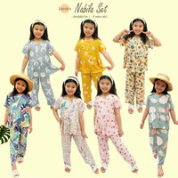 Piyama Set Anak Rayon Stelan Baju Tidur Oneset Perempuan Piama Cewek