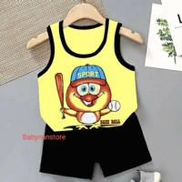 Singlet Anak / Fashion Anak / Baju Anak / Pakaian Anak / Umur 2-3th - KUNING BASE BAL