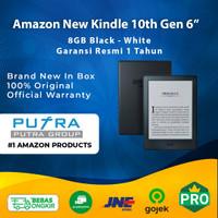 (RESMI) Amazon New Kindle 10th Gen 6 inch 8GB Black White E-Book