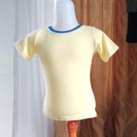 baju kaos anak wanita kuning merk justice LD50 panjang 36