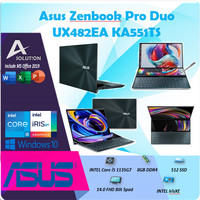 Asus Zenbook Pro Duo UX482EA TOUCH i5 1135G7 8GB 512ssd IrisXe 14FHD