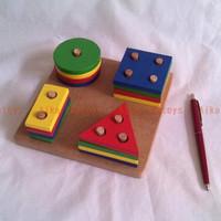 Mainan Pasak Geometri Persegi Kayu /APE Kado Anak Edukasi Aika Edutoys