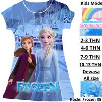 Baju Frozen Anak Princess Dress Anak Perempuan 2 4 6 8 10 13 Tahun