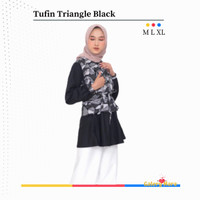 Baju Menyusui Muslim Atasan Ibu Menyusui Black Nursing Wear