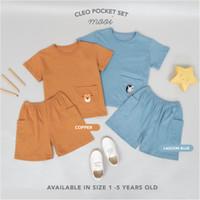Mooi Setelan Anak Unisex Cleo Pocket Set