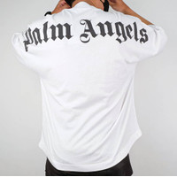 Palm Angels Classic Logo White Tee (100% Authentic)