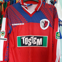 Jersey Baju Bola Original Kashima Antlers Batik LS 1998 Long Sleeve