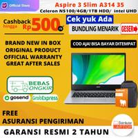 Acer Aspire 3 Slim A314 35 Celeron N5100 RAM 4GB 1TB HDD 14 OHS Win10