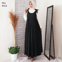 Baju Gamis Plisket Wanita Tanpa Lengan / Gamis Plisket Overall Kensi