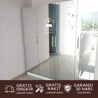 Lemari Pakaian Premium Frameless Full Cermin 4 Pintu Design Premium