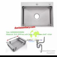 Kitchen sink Kotak minimalis 60 cm /Bak cuci piring model bolzano 6045