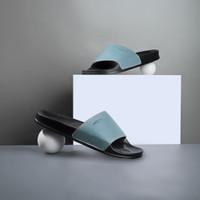 Sandal Slop Pria Cogen Rubber Leather Sendal Slide Cowo