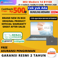 Laptop MSI Modern 14 B11SB core i7-1165G7 16GB 512GB SSD MX450 2GB W10