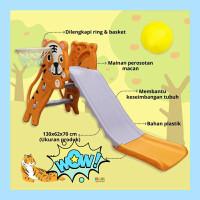 Paket Playground Mini Perosotan + Alas Tikar Foam Lipat / Matras Bayi