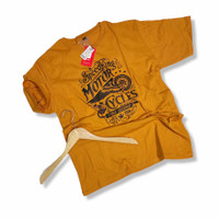 Kaos Baju T-shirt Big Size Pria - Kuning, XXXL