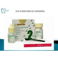 Bahan tambal gigi dental fugi 2 gold label GC fuji II universal