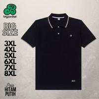 polo shirt big size 4XL 5XL 6XL 7XL 8XL kaos kerah pria jumbo 3L hitam