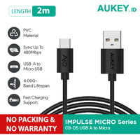 Aukey Cable Micro USB 2.0 2M (NO PACKING & NO WARRANTY)