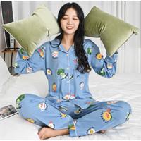 Piyama Baju Tidur Wanita Import PP Fashion Lengan Celana Panjang 7511