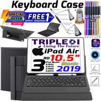 TRIPLEDI Case iPad Air 3 Pro 10.5 inch Keyboard Backlit LED RGB Stylus