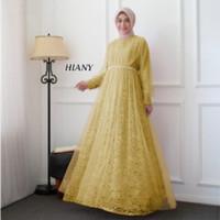 FASHION MUSLIM / DRESS MUSLIM WANITA / GAMIS PESTA HIANY / BRIDEMAID - Olive