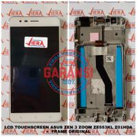 LCD TOUCHSCREEN + MIDDLE FRAME ASUS ZEN 3 ZOOM ZE553KL Z01HDA ORIGINAL - Putih