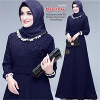 gamis mewah baju lebaran Baju wanita gamis Modern longdress moscrep o1 - no. 5, allsize jumbo