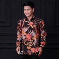 Baju Pria Kemeja Batik Tulis Lengan Panjang M L XL XXL Furing Dalam - Motif A4, M