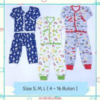 3 setelan baju piyama anak bayi laki laki 3 6 12 16 bulan little q