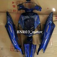 Full Body Halus Yamaha Mio Sporty Biru Tua Plus Striping