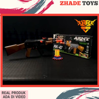 Mainan pistol tembakan nerf gun peluru busa