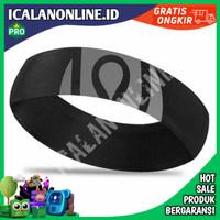 Bandana Headband Olahraga Elastic Sport Hairbands - Hitam