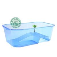 Turtle Tank Small 25 x 17 x 11 cm/ Aquarium Box Ember Tempat Kura Air - Biru