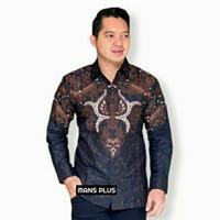 Kemeja Batik Pria Big Size Baju Hem Batik Lengan Panjang Jumbo GRD-HT