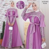 FASHION MUSLIM / DRESS WANITA / GAMIS WANITA SOYARA / BRIDESMAID DRESS - Purple