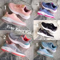 Nike Flyknit size 36-40 sepatu wanita olahraga sports lari hitam pink