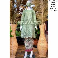 Kebaya Tunik Tile Modern Baju Atasan Brokat Kondangan Wanita Jumbo