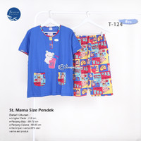 Babydoll Forever MamaSize Celana 3/4 Baju Tidur Wanita Pendek Busui