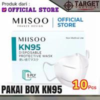 Masker KN95 Miisoo Isi 10 Pcs (1Box) 5 Ply Disposable Masker Kesehatan