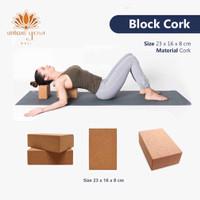 Yoga Natural Cork Block / Brick / Alat bantu yoga block ECO Friendly