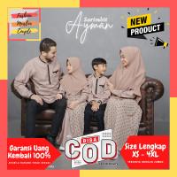 Baju Sarimbit Keluarga Muslim Jumbo Gamis Couple Koko Couple Choco - KERUDUNG ANAK, M