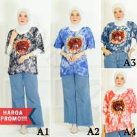 Baju Kaos Barong Lukis Premium Tie Dye Kain Rayon Pria Wanita Jumbo