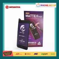 Tempered Glass Iphone 7 8 SE X 11 12 Pro Max Matte Blue Ray Premium