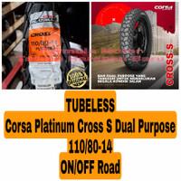 Corsa Platinum 110/80-14 Cross S Dual Purpose Ban Motor Ring 14 Tubles